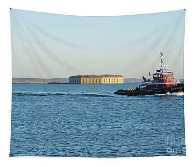 Casco Bay - South Portland Maine  Usa Tapestry