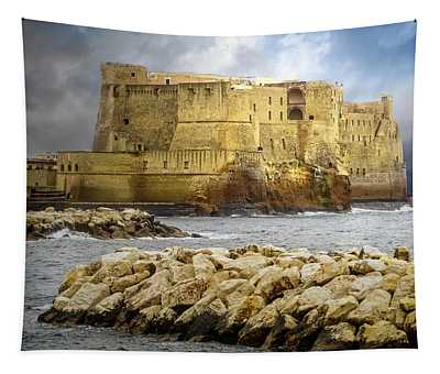 Castel Dell'ovo, Bay Of Naples Tapestry