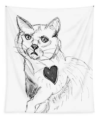 Cat Heart Tapestry
