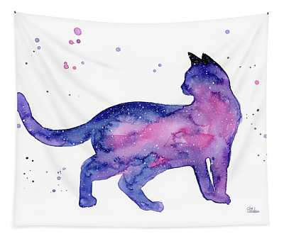 Cat In Space Tapestry