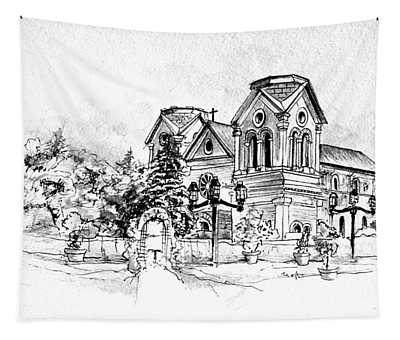 Cathedral Basilica Of St. Francis Of Assisi - Santa Fe, New Mexico Tapestry