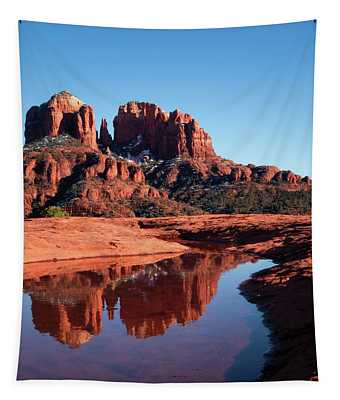 Cathedral Rock Reflection II Tapestry