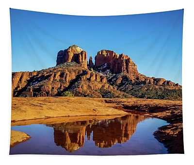 Cathedral Rock Reflection Tapestry