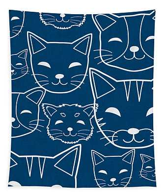 Cats- Art By Linda Woods Tapestry