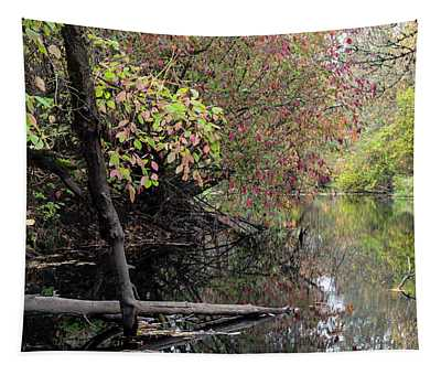 Caught Along The River Tapestry