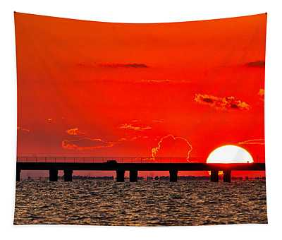 Causeway Sunset Tapestry