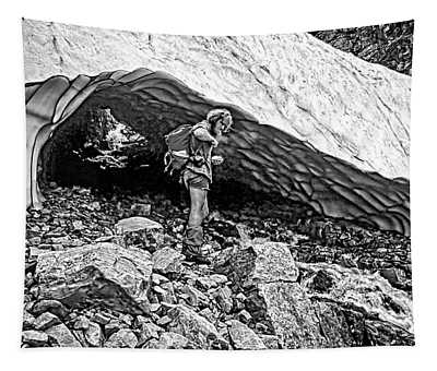 Cave Man Bw Tapestry
