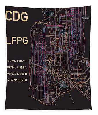 Cdg Paris Airport Tapestry