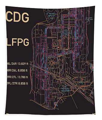 Cdg Paris Airport Tapestry