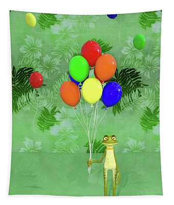 Celebration With Frog Tapestry