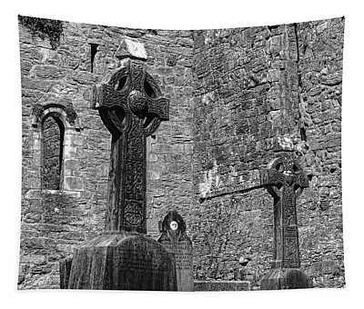 Celtic Cross At Cong Abbey Tapestry