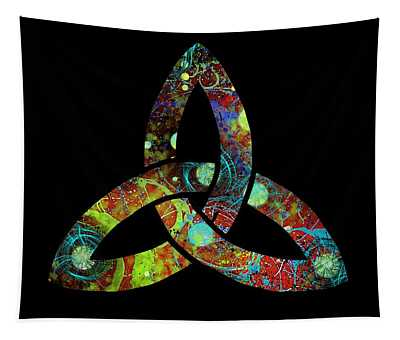 Celtic Triquetra Or Trinity Knot Symbol 1 Tapestry