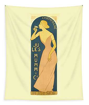 Champagne Jules Mumm And Co. Vintage French Advertising Tapestry