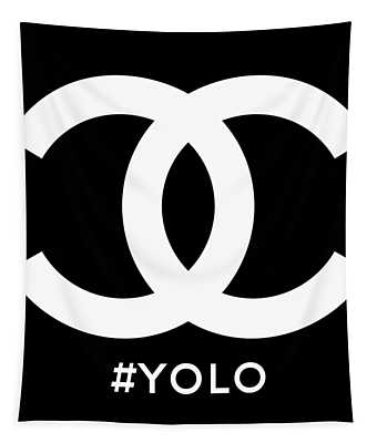 Chanel You Only Live Once Tapestry