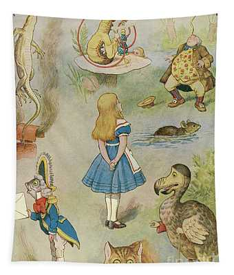 Characters From Alice In Wonderland  Tapestry