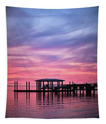Charleston Harbor Sunrise II Tapestry