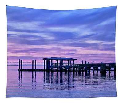 Charleston Harbor Sunrise Tapestry