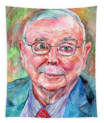 Charlie Munger Portrait Tapestry