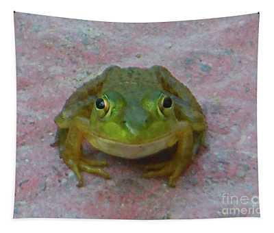 Charming American Bullfrog Tapestry