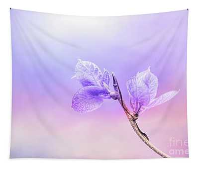 Charming Baby Leaves In Purple Tapestry