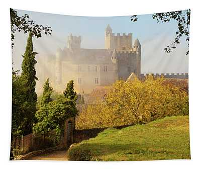 Chateau Beynac In The Mist Tapestry