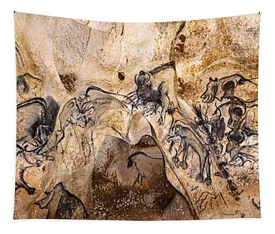 Chauvet Lions And Rhinos Tapestry
