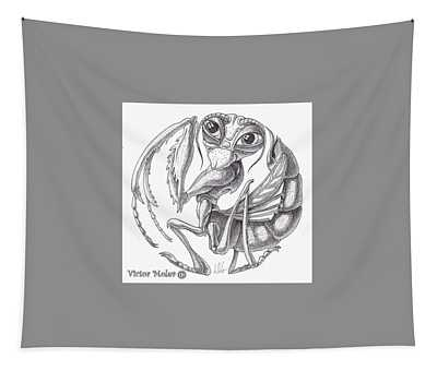 Cheerful Mantis Tapestry