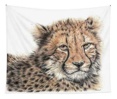 Cheetah Cub Tapestry