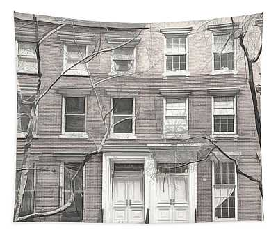 Chelsea Brownstones Sketch Tapestry
