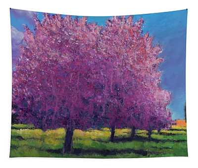 Cherry Blossom Day Tapestry