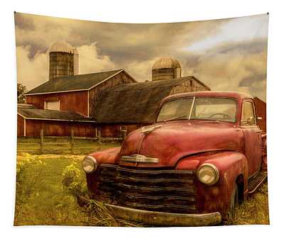 Chevrolet In The Countryside Oil Painting Tapestry