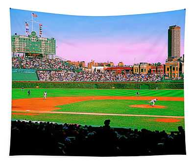 Chicago Cubs Wrigley Field  Third And Home   Tapestry