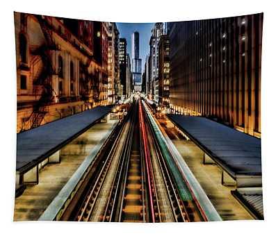 Chicago Loop El Scene Tapestry