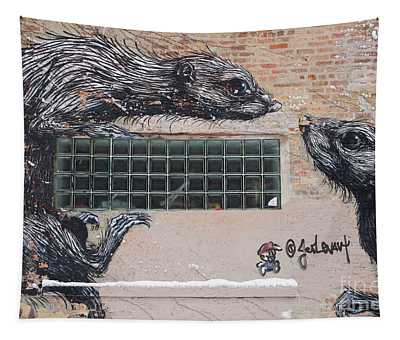 Chicago Street Art, Graffiti, Rats Tapestry