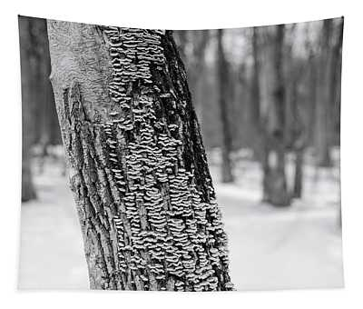 Chicago Winter Trees Tapestry