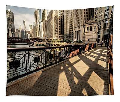 Chicago's Loop From The Franklin Street Bridge Tapestry