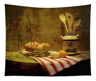 Chicken Eggs Tapestry