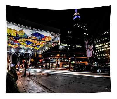 Chihuly Glass In Toronto Night Scene Tapestry