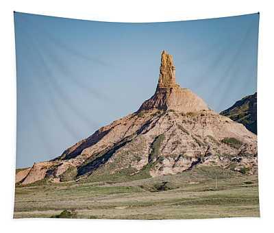 Chimney Rock In Nebraska Tapestry