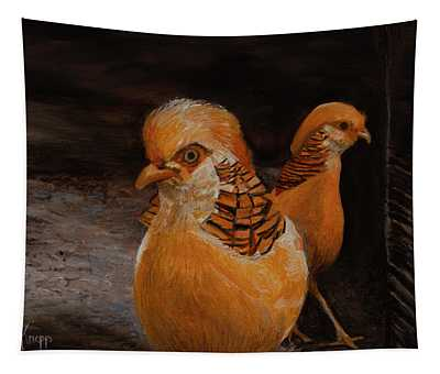 Chinese Golden Pheasant Tapestry
