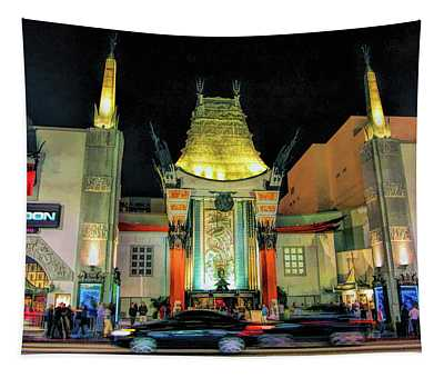 Hollywood Chinese Theatre In Los Angeles Tapestry