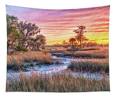 Chisolm Island Marsh Sunset Tapestry