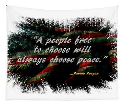 Choose Peace Tapestry