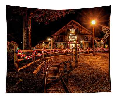 Christmas At The Barn In Smithville Tapestry
