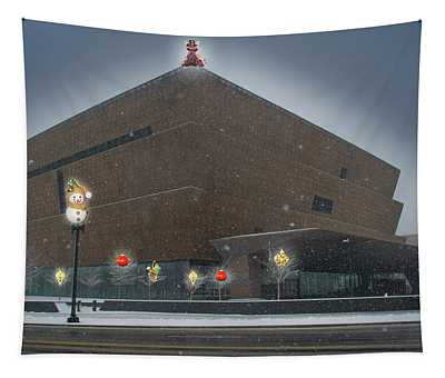 Christmas At The National Museum For African American History And Culture Tapestry
