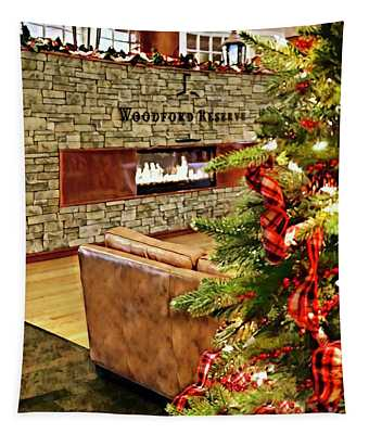 Christmas At Woodford Reserve Tapestry