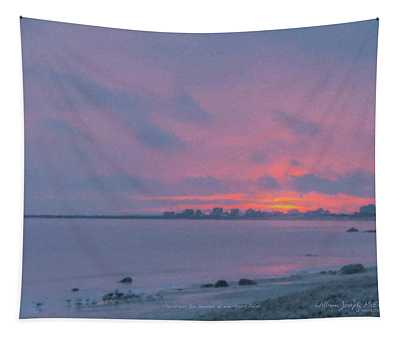 Christmas Eve Sunset Westport Point Tapestry
