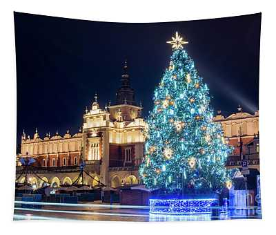 Christmas In Krakow Tapestry
