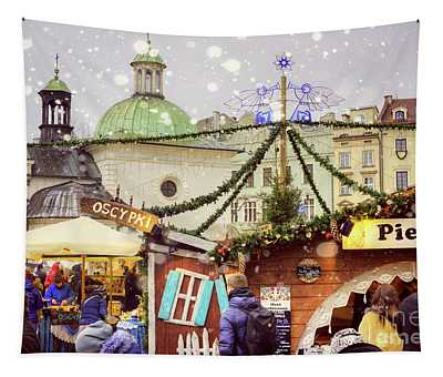 Christmas In Poland Tapestry