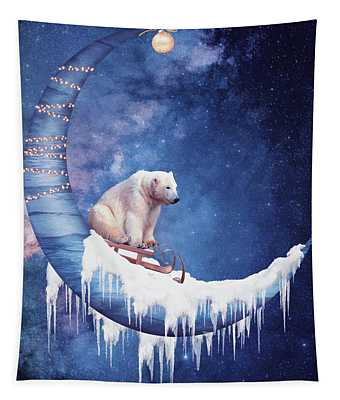 Christmas On The Moon Tapestry
